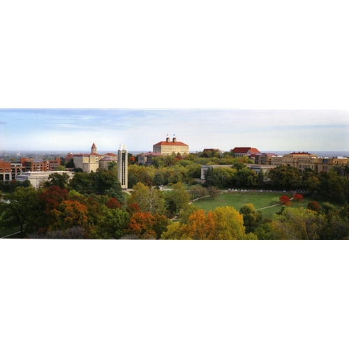 Mid Day Wide Shot Photo of Kansas University Campus