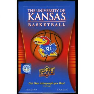 The University of Kansas Basketball Post, with Mascot Layered on Basketball, Kansas Blue and Red Background, Framed