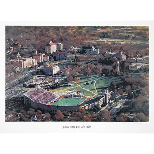 Aerial View of KU Football Field & Campus