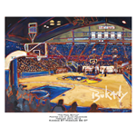 John Bukaty Limited Edition Poster of Kansas University Basketball Arena, View From Behind Hoop