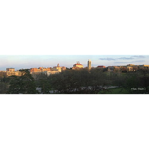 Panoramic Painting of University of Kansas' Campus