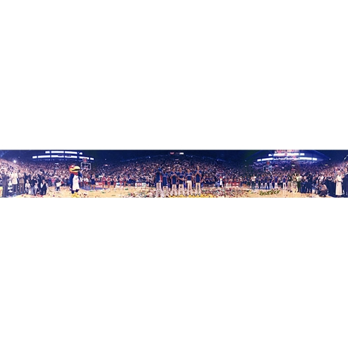 Panoramic Photo Inside of Allen Field House at KU