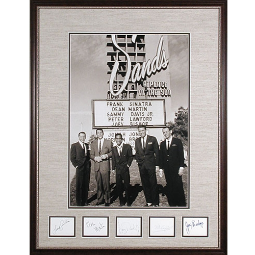 Autographed Photo of Rat Pack at University of Kansas