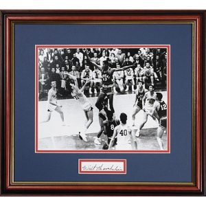 Wilt Chamberlain Autographed Photo from KU