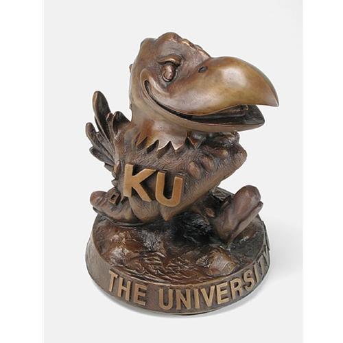 Bronze KU Jayhawk Statue