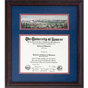 Antique University of Kansas Diploma