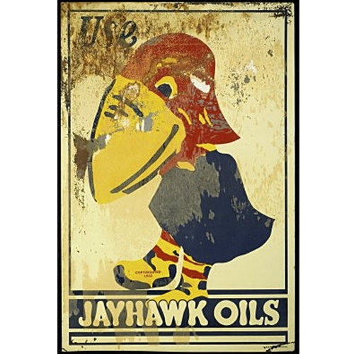 University of Kansas Jayhawk Oils Reporoduction Collectible