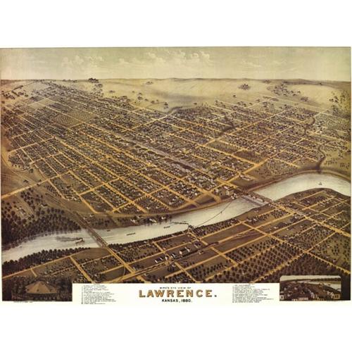 Larwrence Kansas Collectible Maps