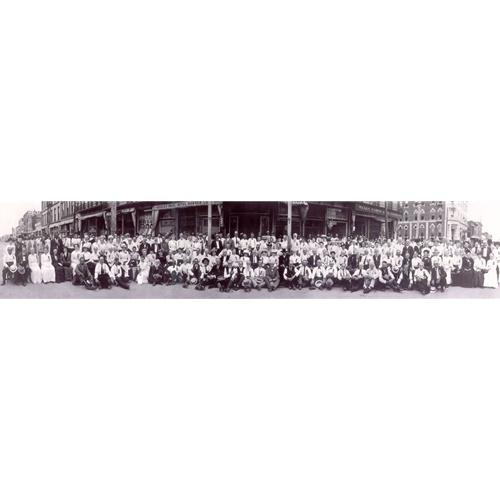 Survivors of William Quantrill's Raid of Lawrence in front of the Eldridge Hotel