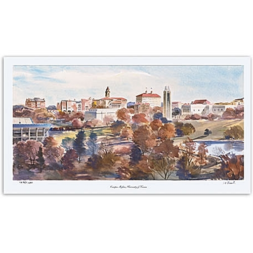 University of Kansas Skyline Painting