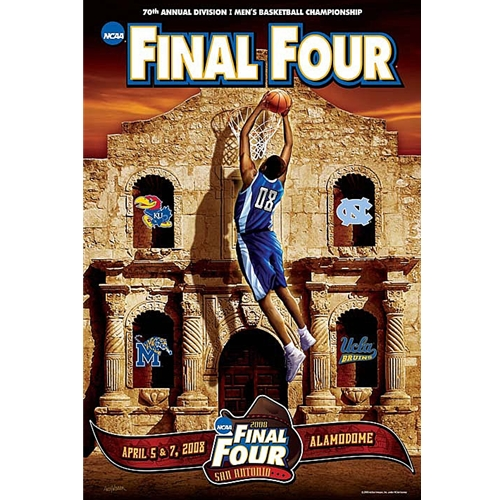 NCAA Final Four Poster with KU on Cover