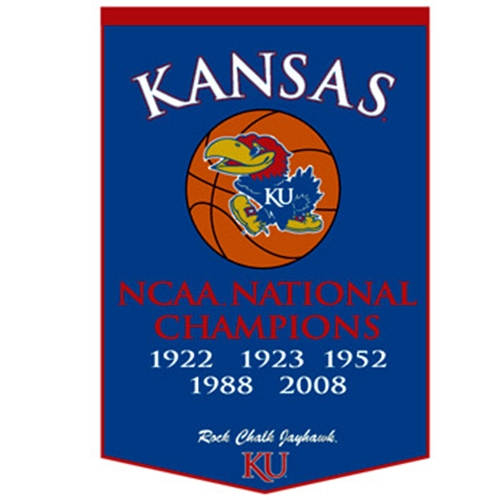 University of Kansas Basketball National Champiionship Banner
