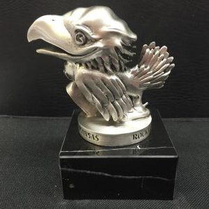 "1946 Version - Baby Jayhawk 5"" Pewter Figure with Black Base"