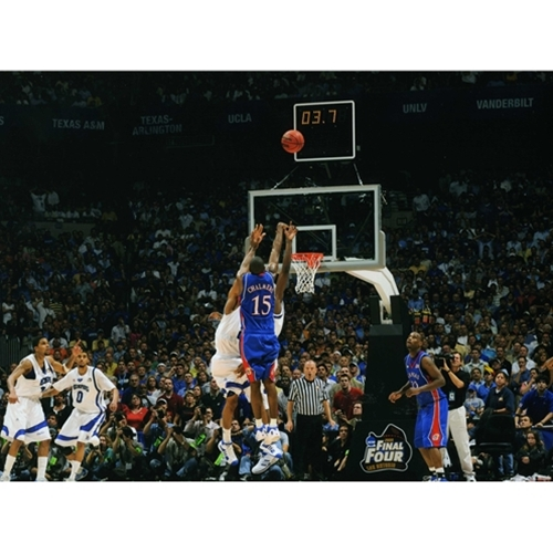 Poster of Rich Clarkson shooting a jump shot over defenders with 3 seconds left in game during final four