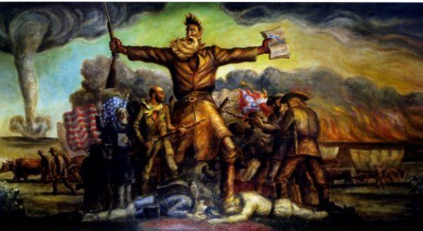 Tragic Prelude Painting Print at Kansas State Capitol