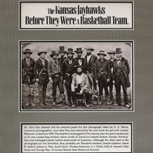 Kansas Jayhawks Before they Were a Basketball Team, Black and White Portrait of 10 Men