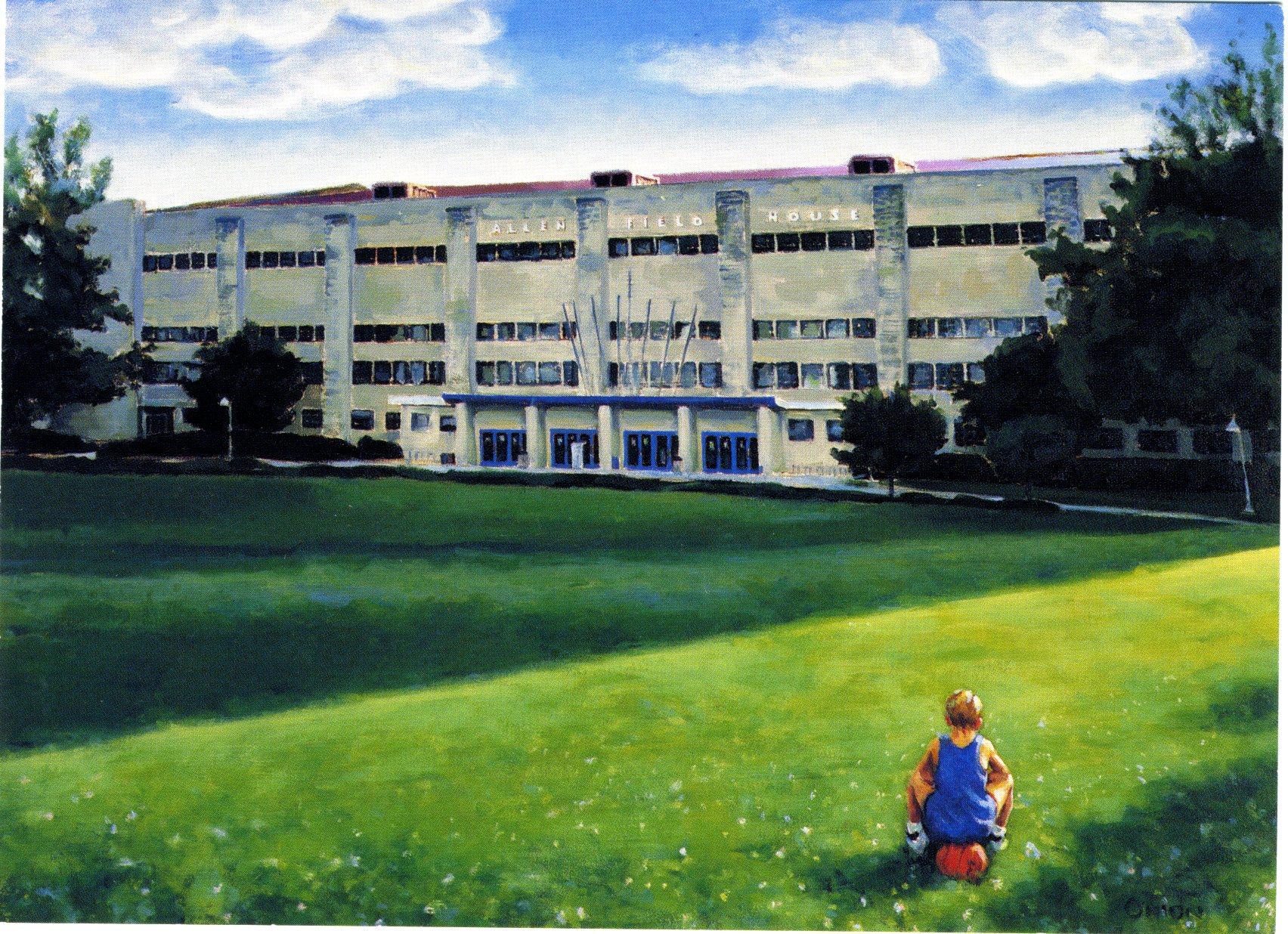 University of Kansas's Allen Field House Painting