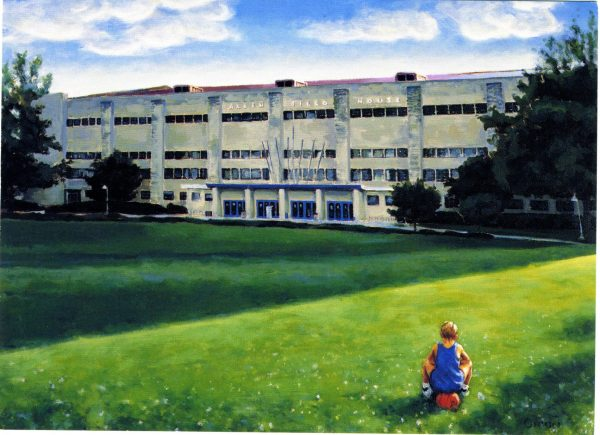 Unframed Allen Field House at University of Kansas Painting