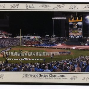 Panoramic View in Kauffman Stadium Opening Ceremonies 2015 World Series with Printed Signatures
