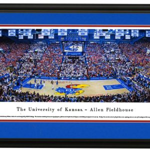 Full Court View KU vs Kansas Panoramic Print - Allen Fieldhouse