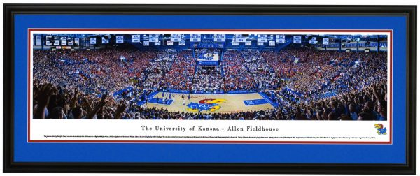 Full Court View KU vs Kansas Panoramic Print - Allen Fieldhouse