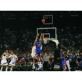 "Mario Chalmers ""The Shot"" Photo signed by Rich Clarkson framed in Museum Glass in black metal frame."