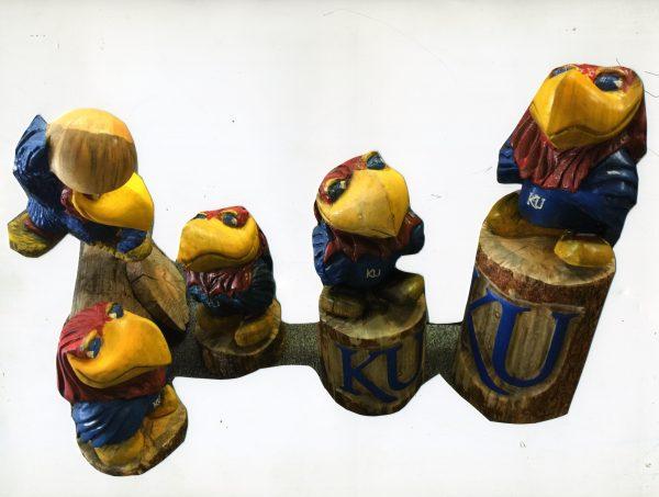 KU Jayhawk Carving