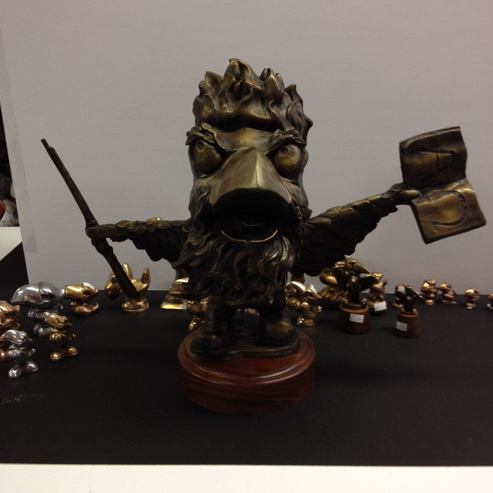 """John Brown Jayhawk 13"""" Tal Statue"""